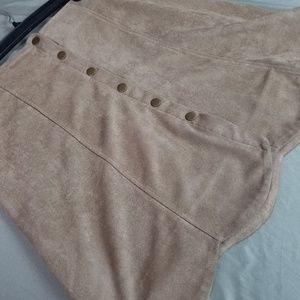 Blue Rain Brown Skirt Button Skirt Size L